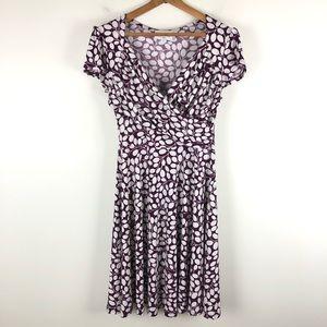Leota S petite purple grape faux wrap dress 0690